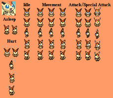 Victini - PMD custom sprites by PowerCristal