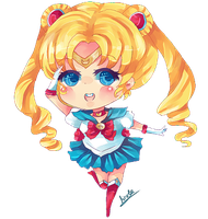 Sailor Moon Chibi by KyouKaraa