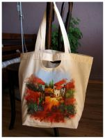 Tuscany decoupage bag by dintoira