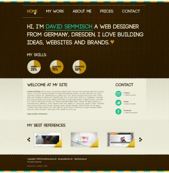 brown portfolio, big header by termi1992
