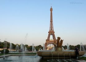 View over Trocadero fountains by EUtouring