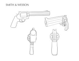 Smith and Wesson (Elephant Killer), Arma realista by HeisenbergA7X