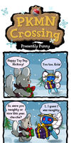 PKMN Crossing: Presently Punny by Lhumina