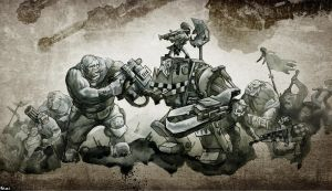 warhammer 40k green tide by Peter1punk