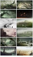 December Speedpaints by bradwright