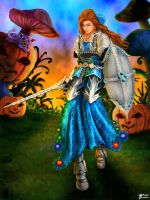 Alice in Halloween Forest by whiteguardian