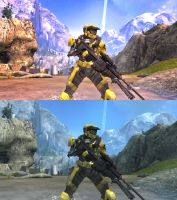 Stock Vs. Edit Halo Reach Mk V by Raulboy