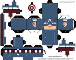 Captain America Cubeecraft (Avengers Version) by topduelist