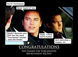 Torchwood Recruitment IQ Test by Bloodsong13T
