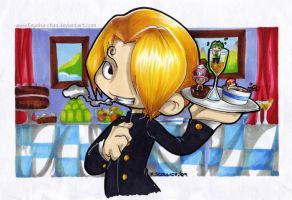 Sanji chibi by KeyshaKitty