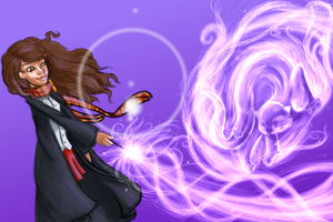 Expecto Patronum - Hermione by drewsefske