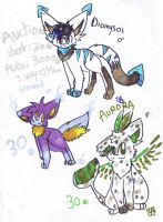 3 new  CUTE adoptable ! (one auction) by lucie45