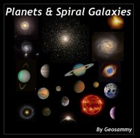 Planets and Spiral Galaxies by Geosammy