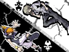 The World Ends/Begins With You Wallpaper by MikkiPhantomhive