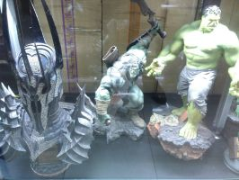 Sauron, Hulk's son and Hulk by thereanimatedunknown