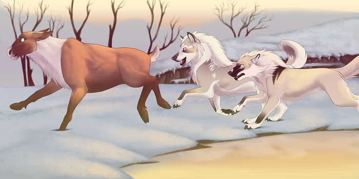 Hunting Caribou - Ragnar and Kingdom Come by StargroveStudios
