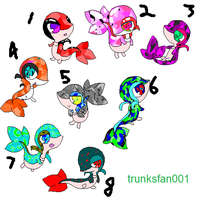 snivy birthstone adopts : OPEN by bluetardus