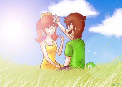 Luigi X Daisy - Meadows by DaisyDrawer