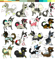 ::ONE LEFT:: Giant adoptable batch OPEN by MochaPupp