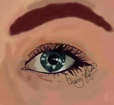 My eye by charitree