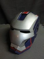 IRONMAN Helmet repaint- Iron Patriot by JohnsonArms