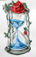 Blue Blood Hourglass by ArtOfAsthar