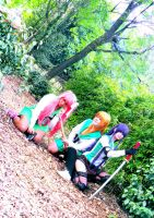 HOTD Cosplay Rei, Saeko and Saya by LadyNoa