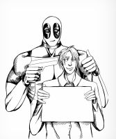 deadpool movie poster lines by EmmaSeptimus