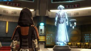 SWTOR Screenshot Holo-Talk In My Ship #2 by TheFlyingHeart