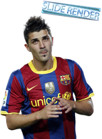 David Villa render by SlideSG