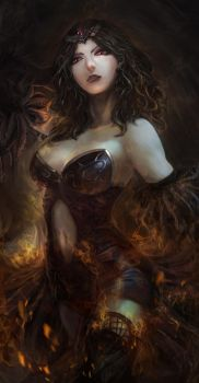 Crowned Witch Final by CGlas