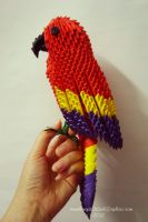 3d origami scarlet macaw by Nga1012