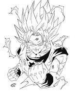 Dragonball Z - Son Goku Super Sayan 2 by TriiGuN