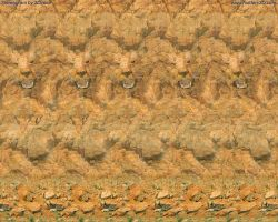 Leo Stereogram by 3Dimka