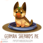Daily Paint 1578. German Shepard's Pie by Cryptid-Creations