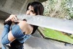 Rinoa with Gunblade Dion Roger by PrincessRiN0a
