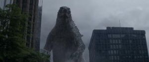 Godzilla 2014:  The King in the Rain by sonichedgehog2