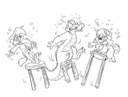 Tipsy and Company by dodgyrommer