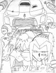 Type-R cover uncolored. by NeogeoSS4