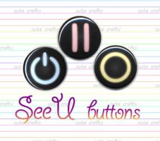 SeeU Cosplay VOCALOID Buttons by MyFebronia