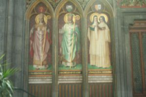 wall paintings in  in cathedral Liege by ingeline-art