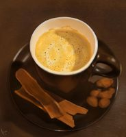 Grafyth's Coffe study painting by 3rdevi