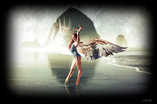 Angel on the Shore by vilnolinjinx