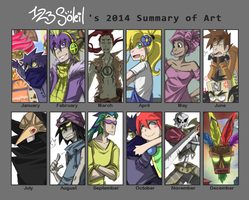 2014 Summary of Art by 123soleil