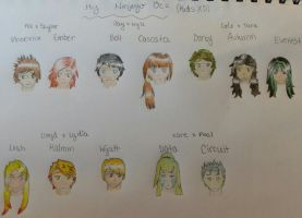 Ninjago Kid OCs by alikat475