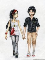 Holding Hands by Labbess