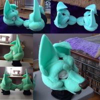 Twin Foam Base Commission by GoldenCat22