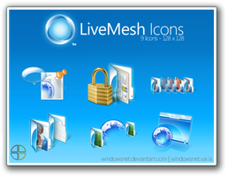 Live Mesh PNGs by WindowsNET