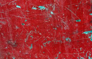 red scratched metallic texture by beckas