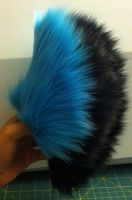 .Fluff. Short Blue and Black Tail (Held) (SALE) by TigeroftheWinds